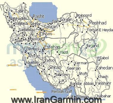 iran map Garmin