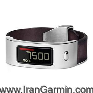 ساعت مردانه گارمین SilverMahogany Leather Cuff vivofit Band