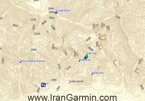 نقشه توپوگرافی ایران برای گارمین