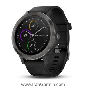 VivoActive 3 Black with Slate Hardware