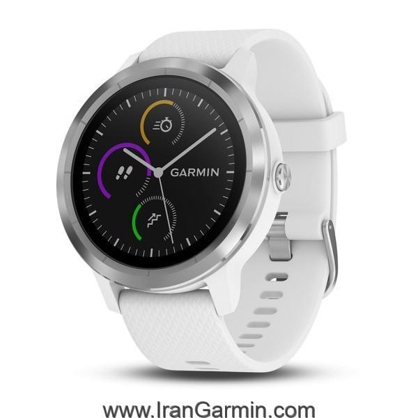 VivoActive 3 White with Stainless Hardware