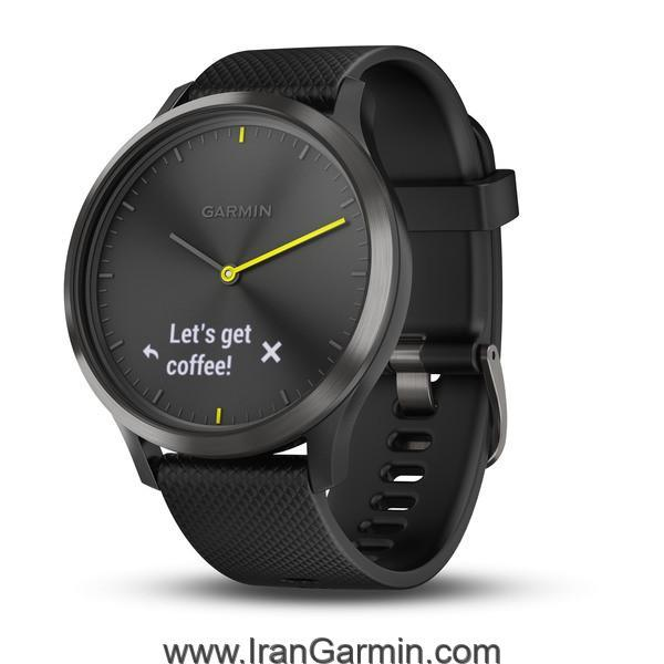 VivoMove HR Black with Black Silicone Band